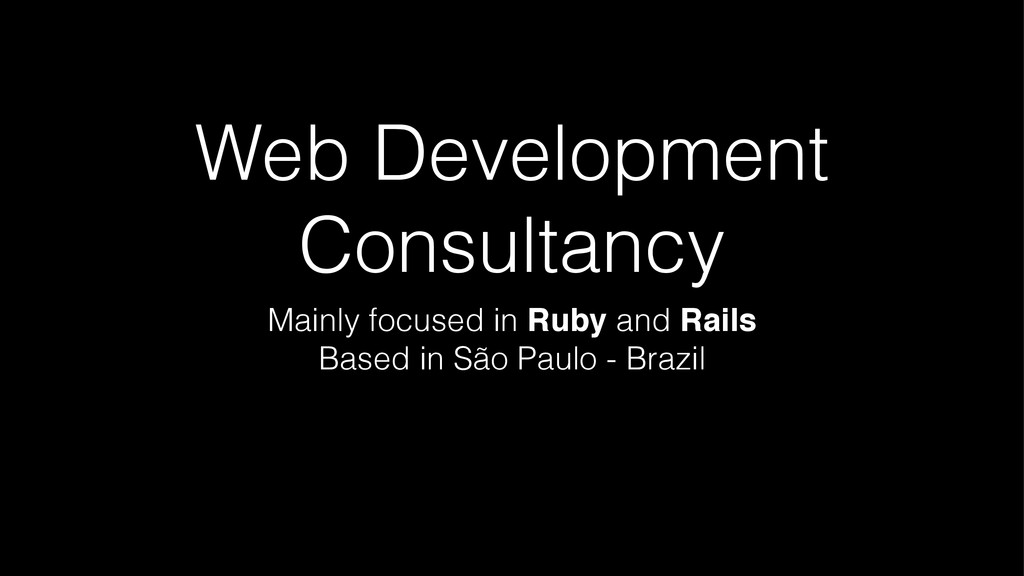 Web Development Consultancy Mainly focused in R...