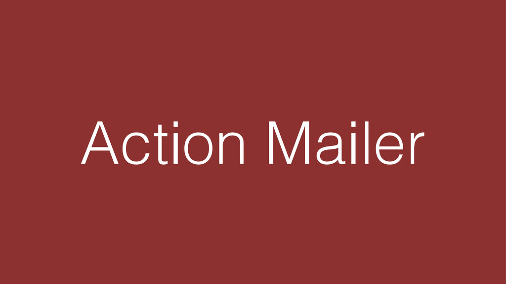 Action Mailer