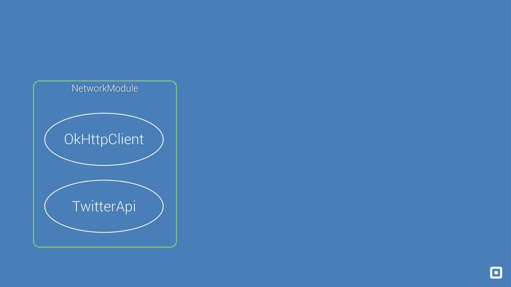OkHttpClient TwitterApi NetworkModule