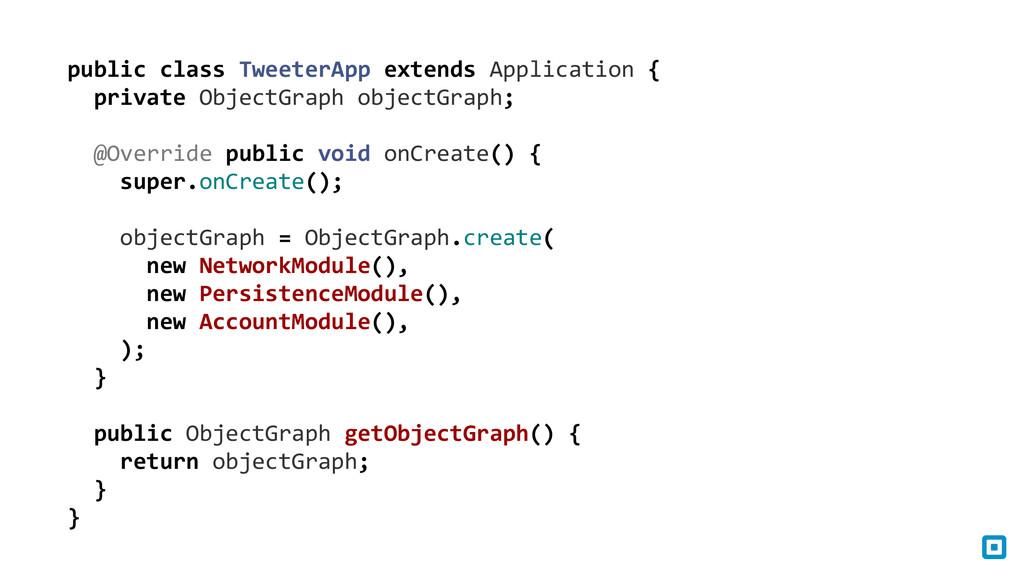 public class TweeterApp extends App...
