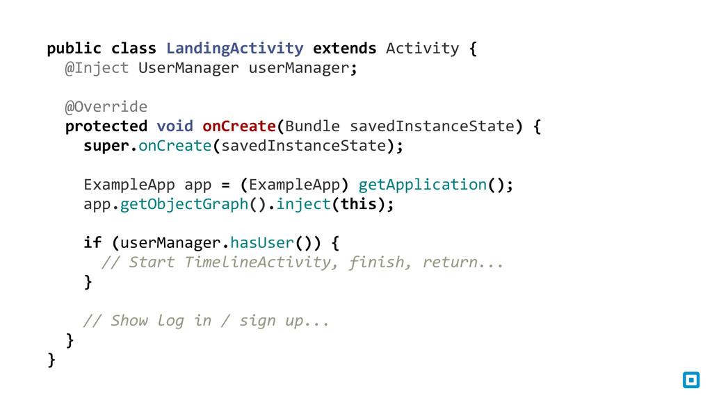 public class LandingActivity extends...
