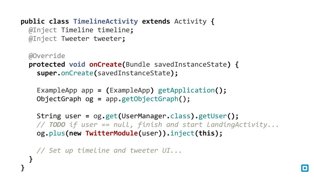 public class TimelineActivity extends...