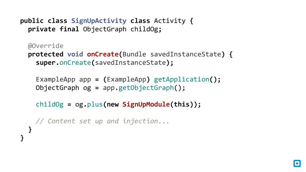 public class SignUpActivity class A...