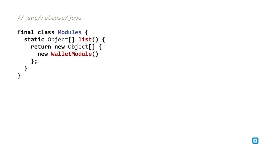 // src/release/java  ! final class ...