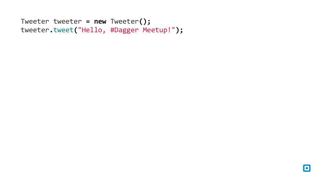 Tweeter tweeter = new Tweeter(); ...