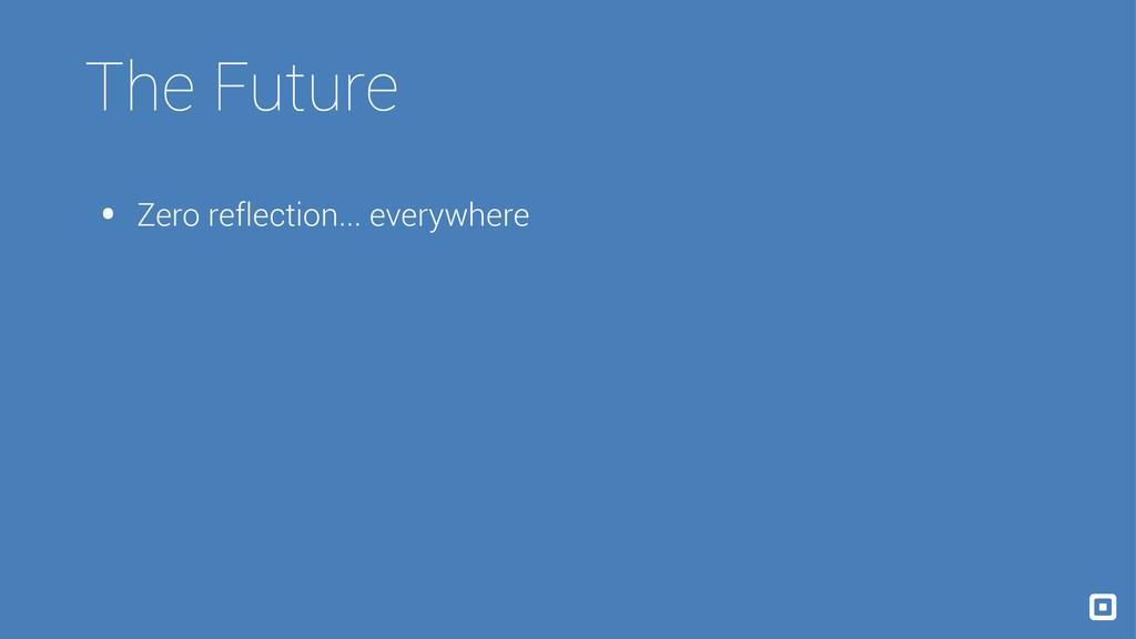 The Future • Zero reflection... everywhere