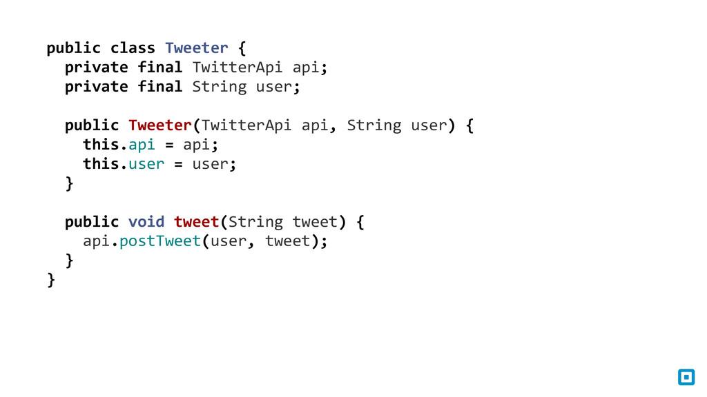 public class Tweeter {    pri...