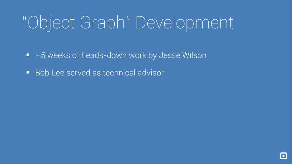"""Object Graph"" Development • ~5 weeks of heads-..."