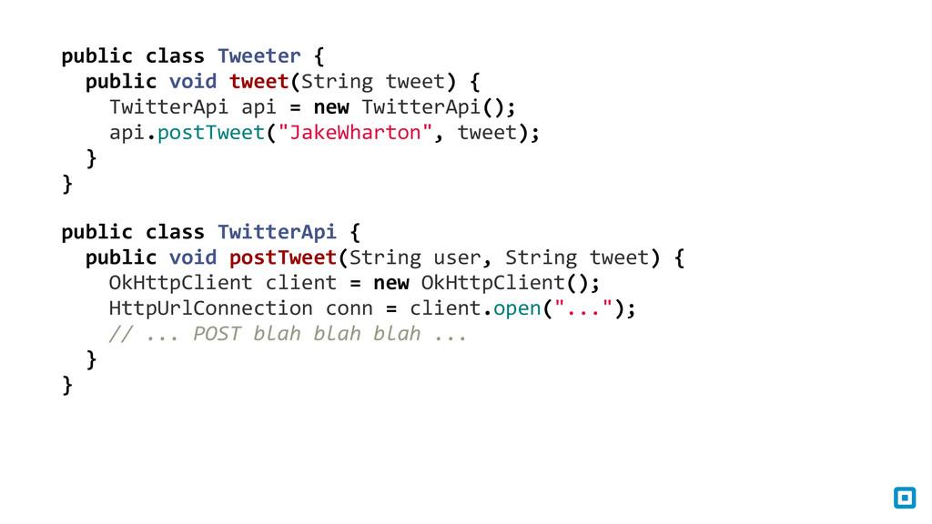 public class Tweeter {    pub...