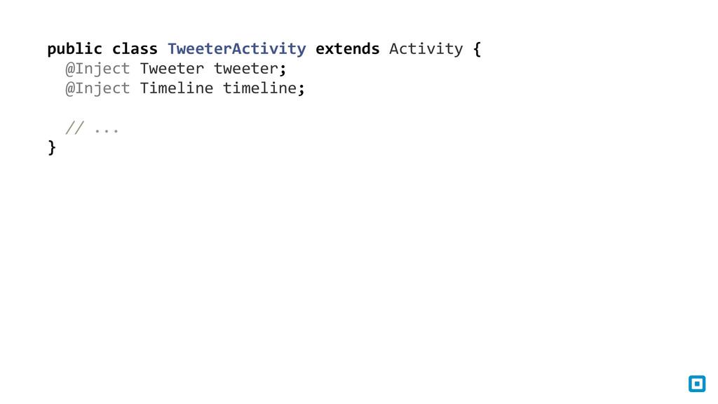 public class TweeterActivity extends...
