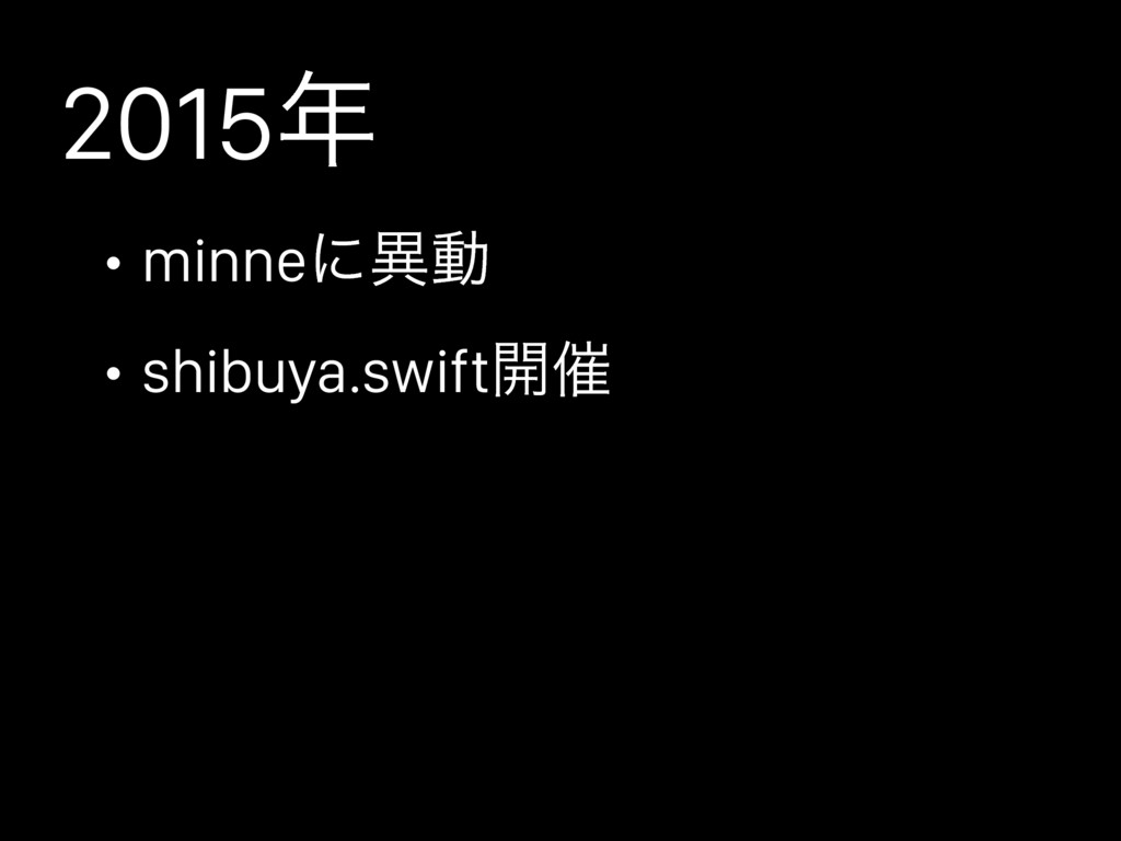 2015 • minneʹҟಈ • shibuya.swift։࠵