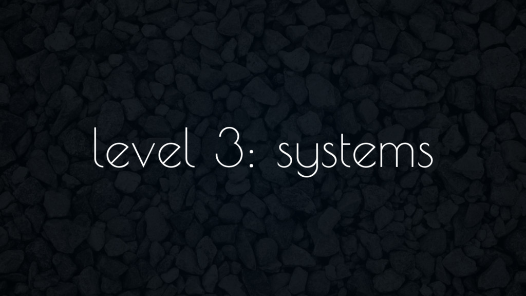 level 3: systems