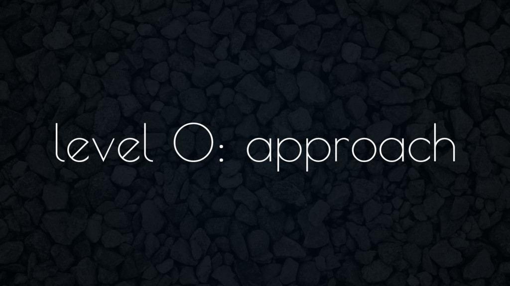 level 0: approach