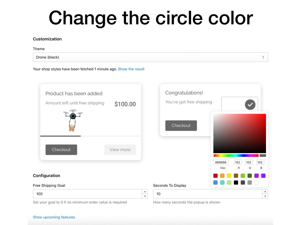 Change the circle color