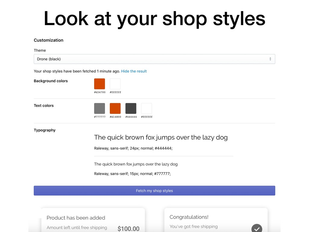 Look at your shop styles
