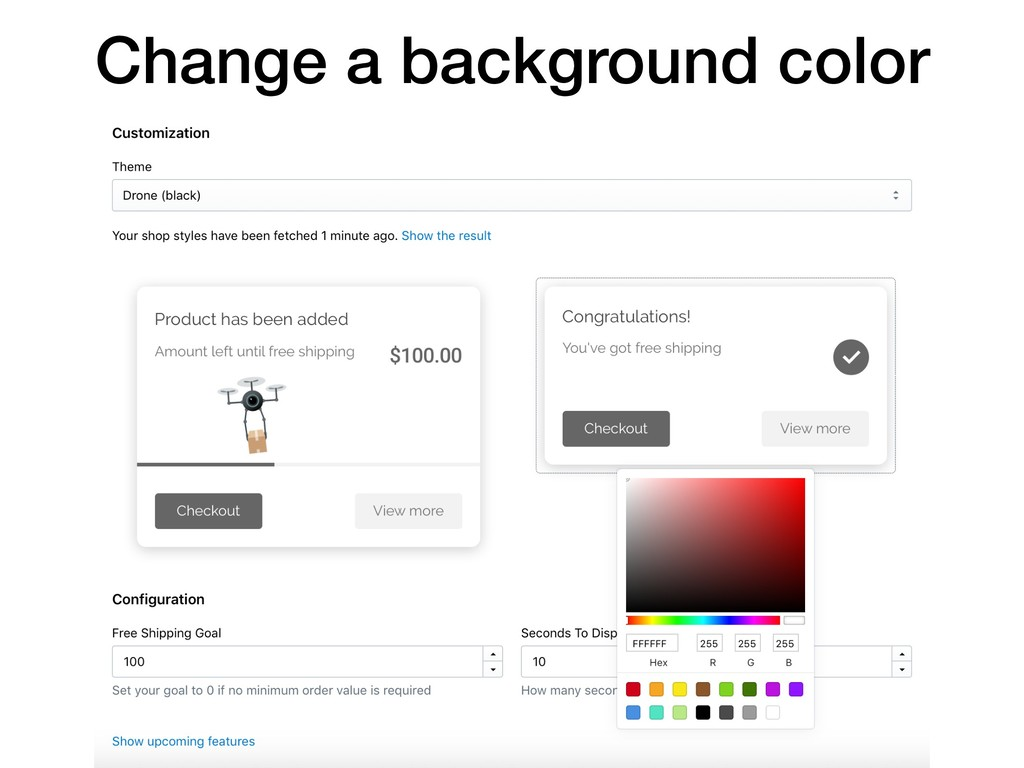 Change a background color