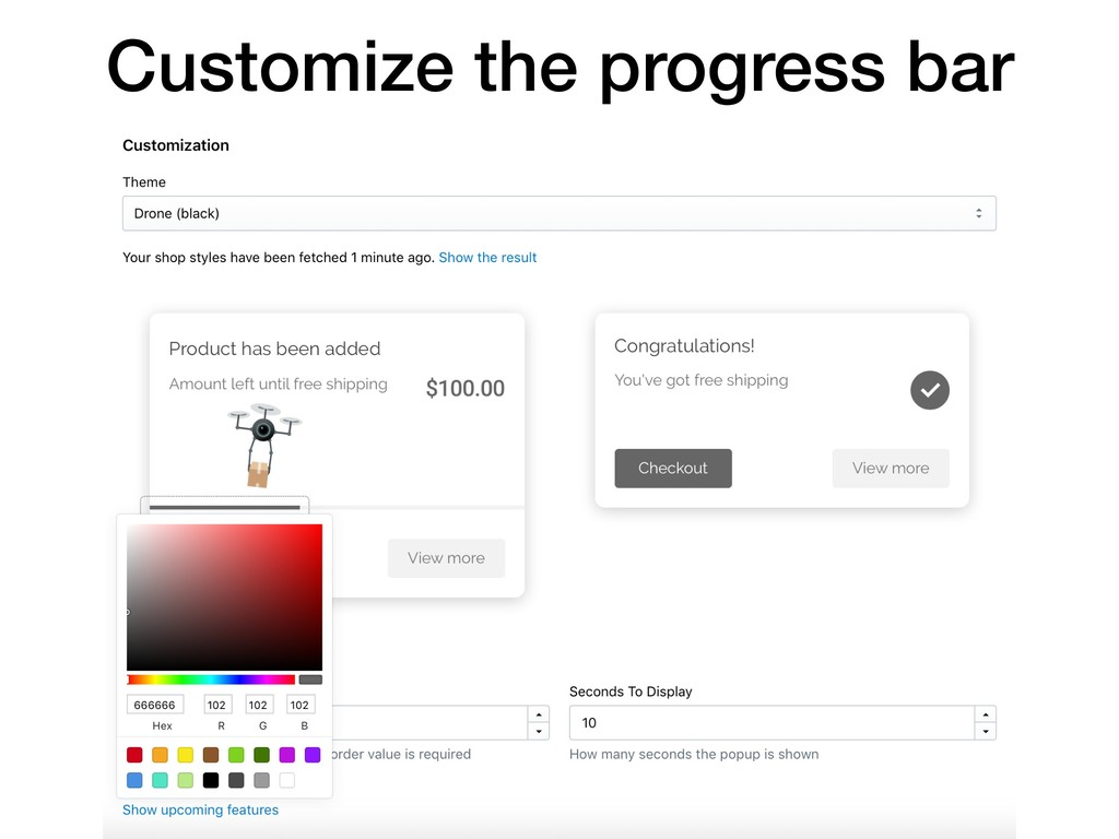 Customize the progress bar