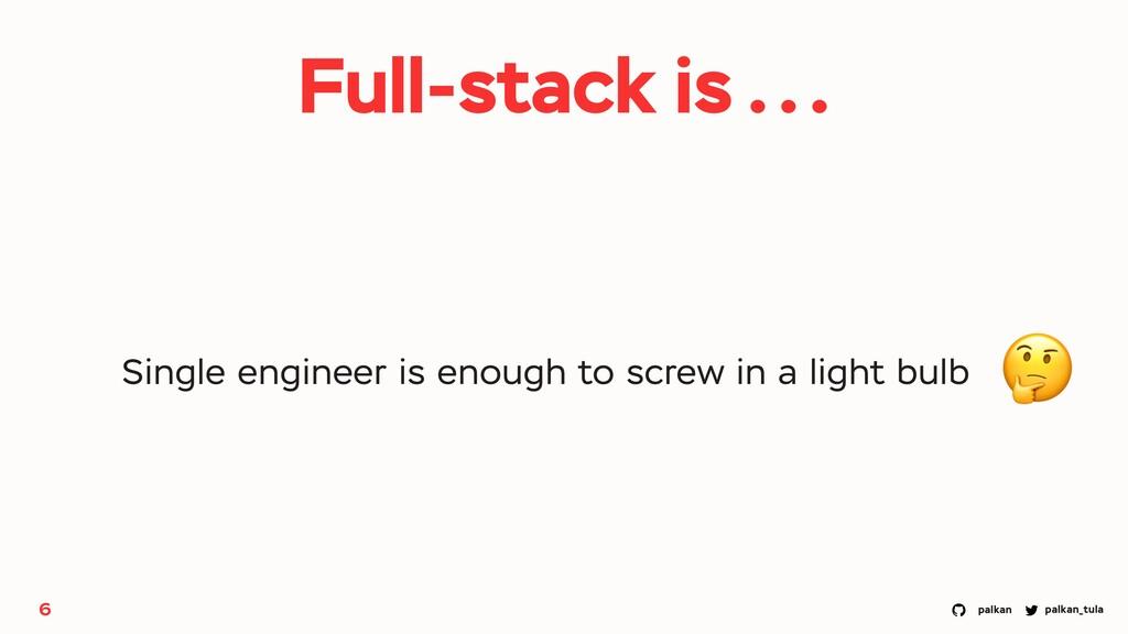 palkan_tula palkan 6 Single engineer is enough ...