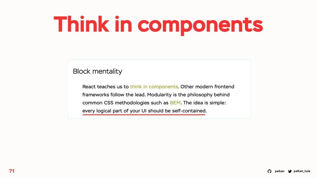 palkan_tula palkan 71 Think in components
