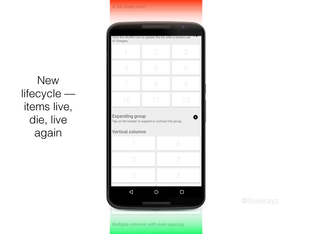 @lisawrayz New lifecycle — items live, die, liv...