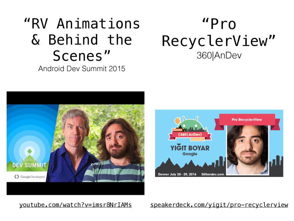 """RV Animations & Behind the Scenes"" Android Dev..."