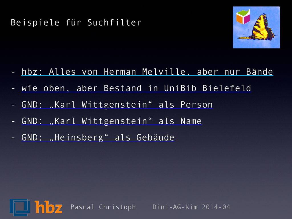 Beispiele für Suchfilter - hbz: Alles von Herma...