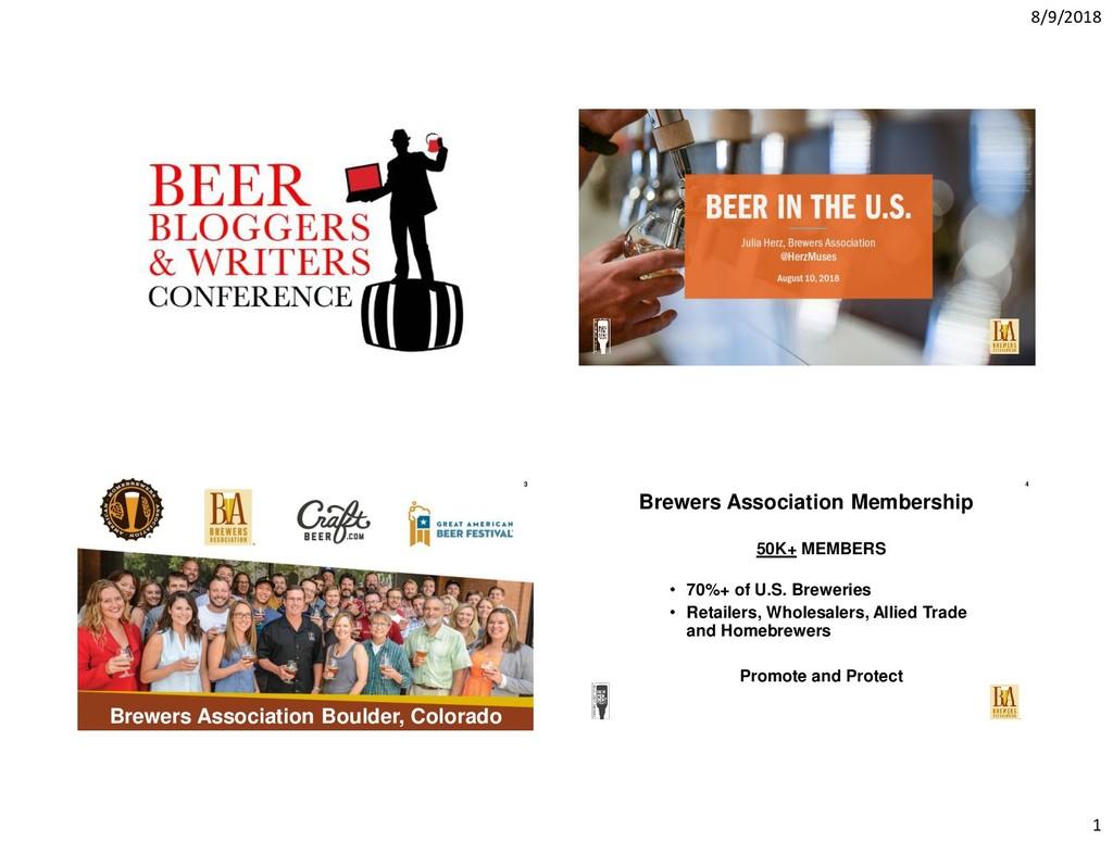 8/9/2018 1 Brewers Association Boulder, Colorad...