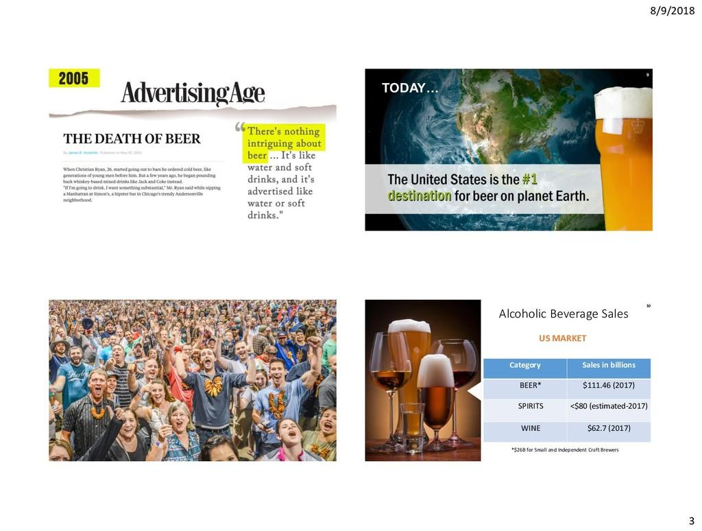 8/9/2018 3 9 TODAY… Alcoholic Beverage Sales Ca...