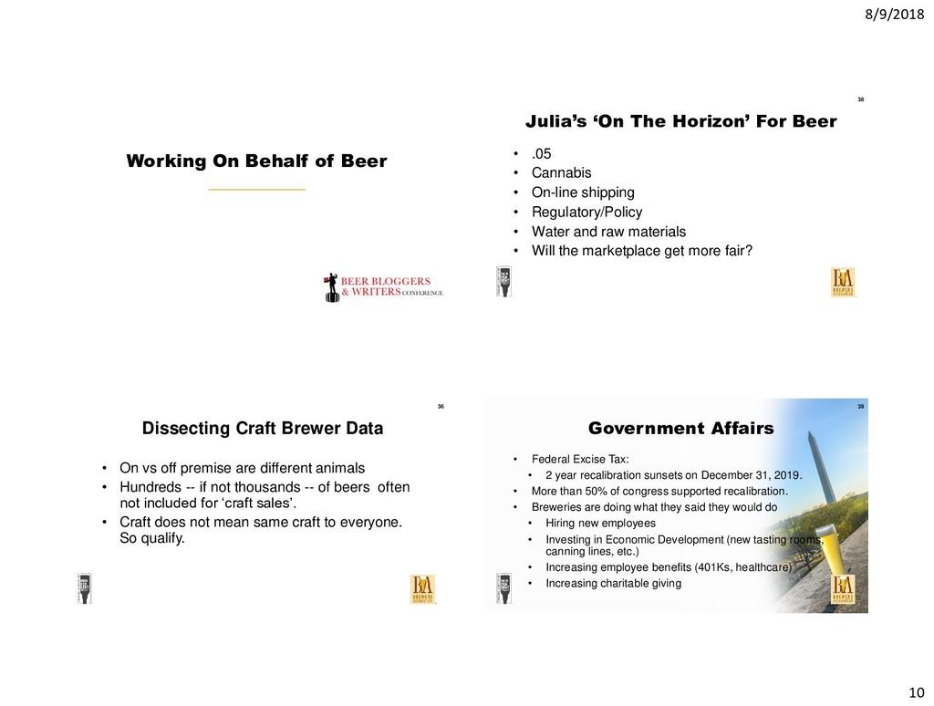8/9/2018 10 Working On Behalf of Beer Julia's '...