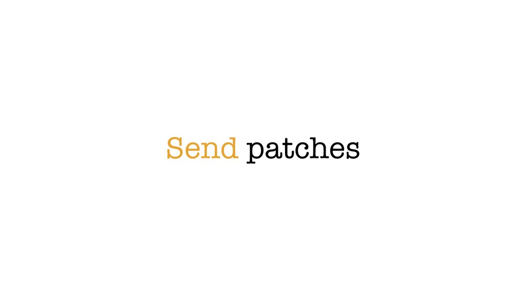 Send patches