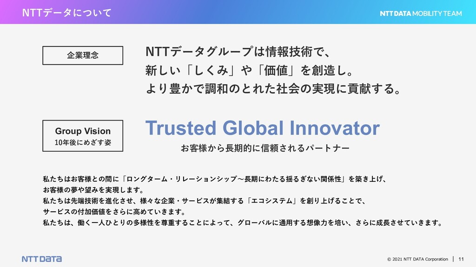 © 2021 NTT DATA Corporation 11 NTTデータについて NTTデー...