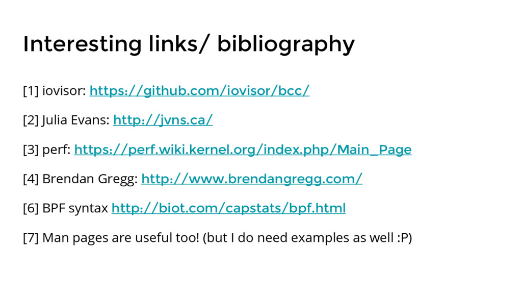 Interesting links/ bibliography [1] iovisor: ht...
