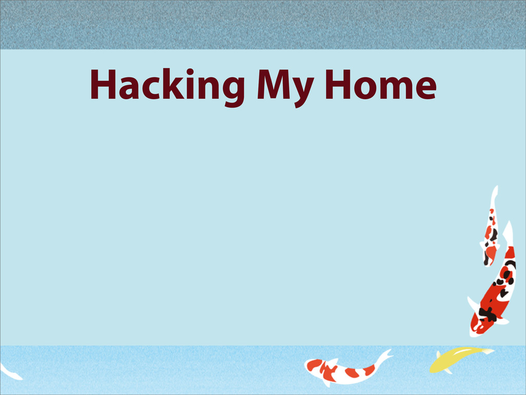 Hacking My Home