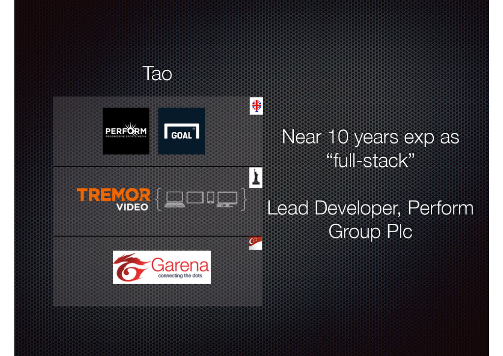 """Tao Near 10 years exp as """"full-stack"""" ! Lead De..."""