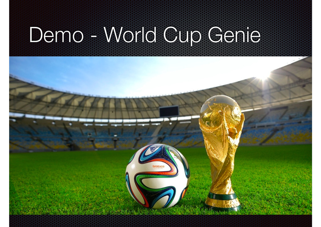 Demo - World Cup Genie