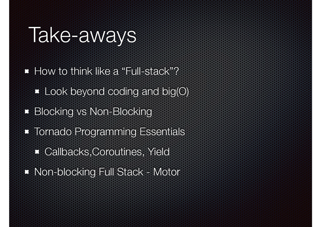 """Take-aways How to think like a """"Full-stack""""? Lo..."""