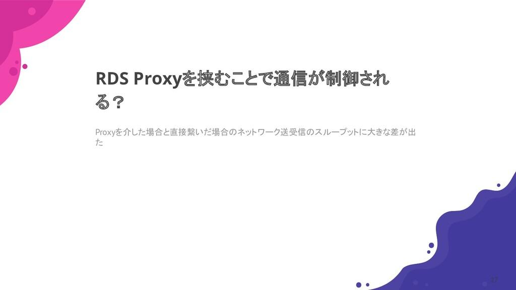 Proxyを介した場合と直接繋いだ場合のネットワーク送受信のスループットに大きな差が出 た R...