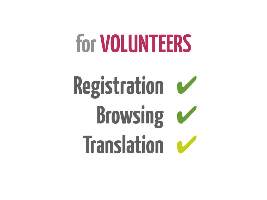 for VOLUNTEERS Registration Browsing Translatio...