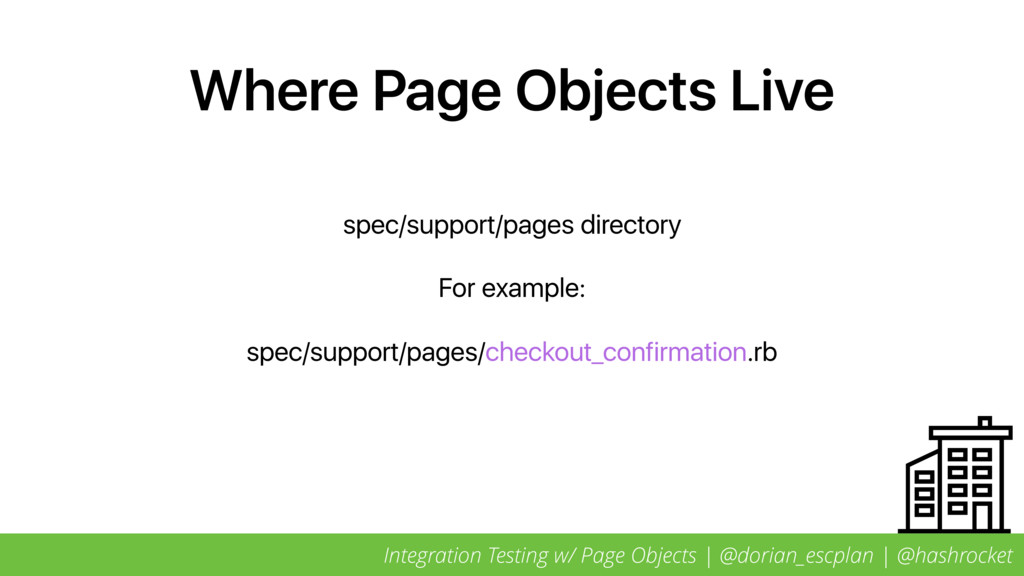 Where Page Objects Live spec/support/pages dire...