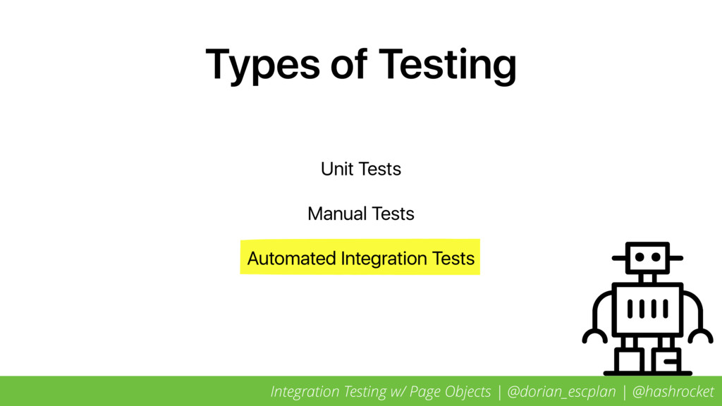 Types of Testing Unit Tests Manual Tests Automa...