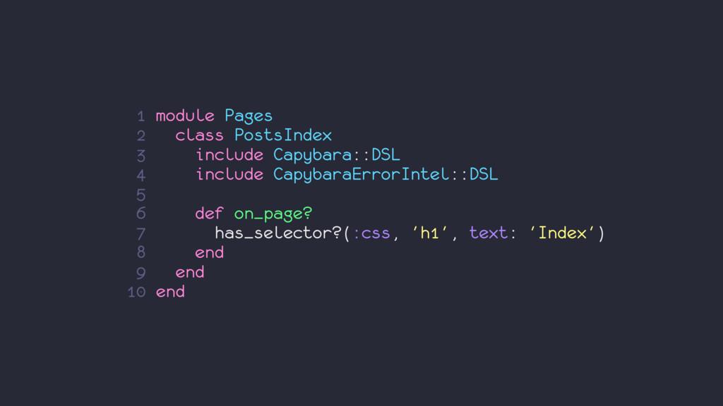 1 module Pages 2 class PostsIndex 3 include Cap...
