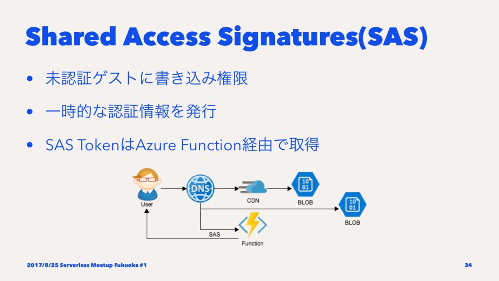 Shared Access Signatures(SAS) • ະূήετʹॻ͖ࠐΈݖݶ •...
