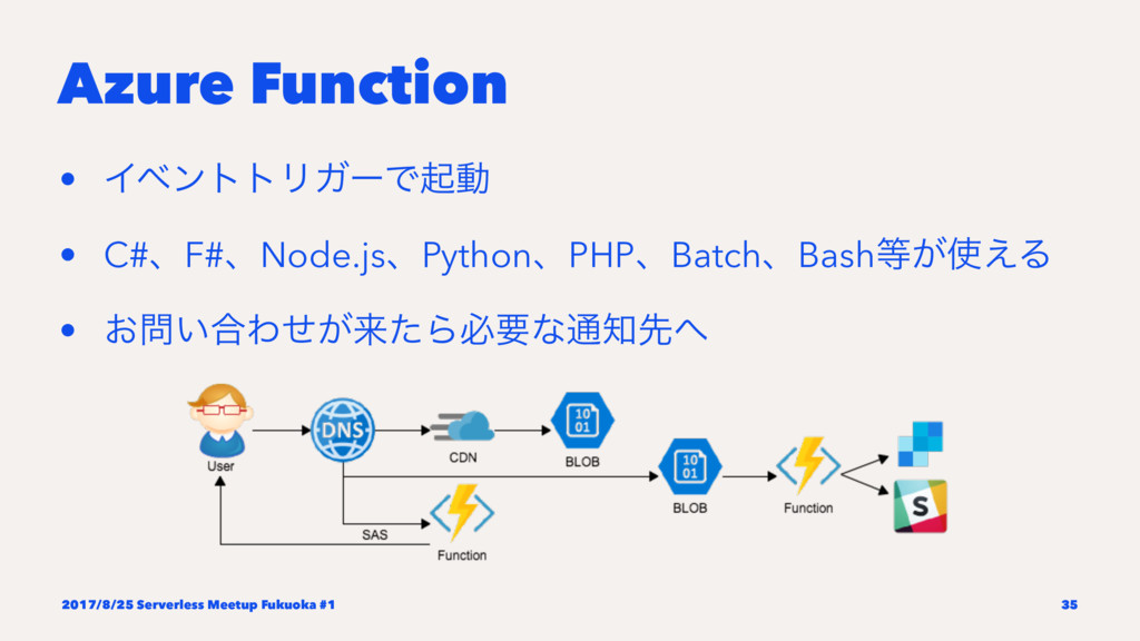 Azure Function • ΠϕϯττϦΨʔͰىಈ • C#ɺF#ɺNode.jsɺPy...