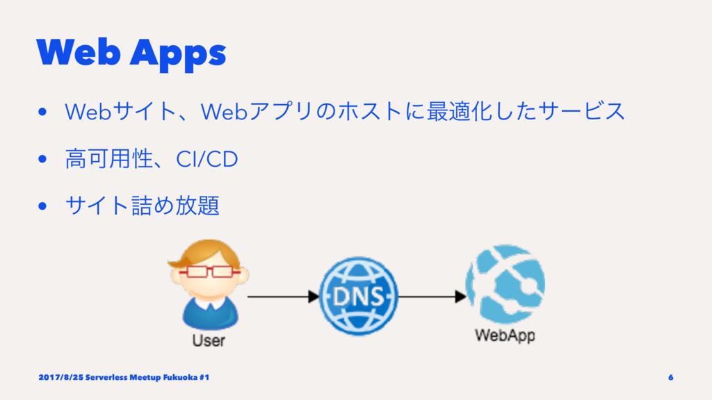Web Apps • WebαΠτɺWebΞϓϦͷϗετʹ࠷దԽͨ͠αʔϏε • ߴՄ༻ੑɺC...