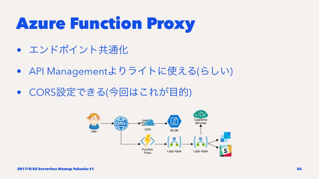 Azure Function Proxy • ΤϯυϙΠϯτڞ௨Խ • API Managem...