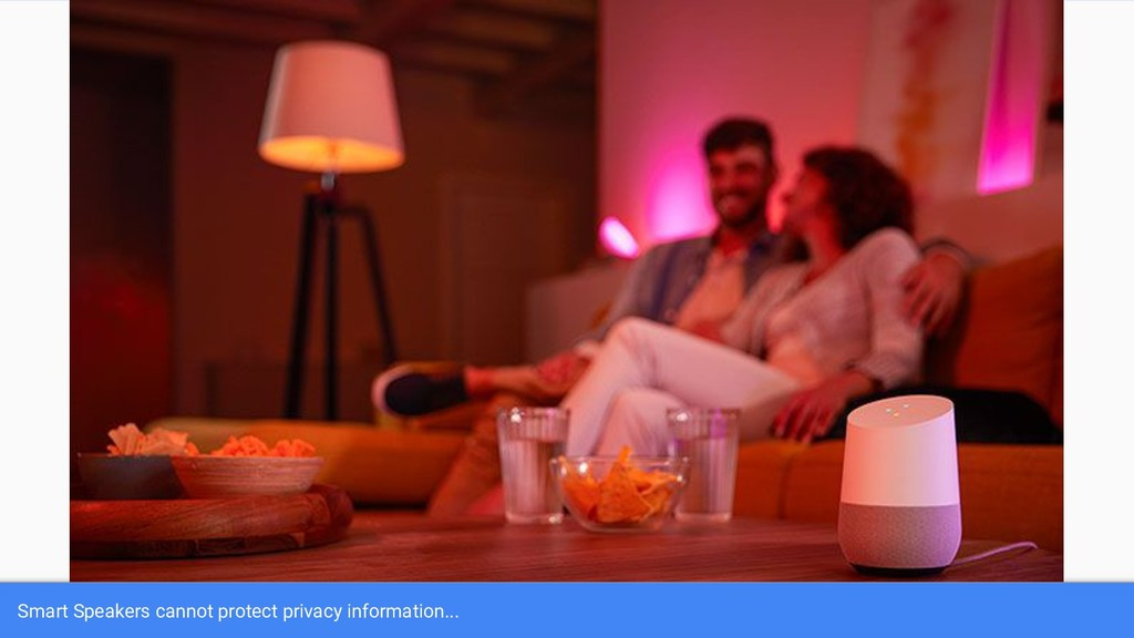 Smart Speakers cannot protect privacy informati...