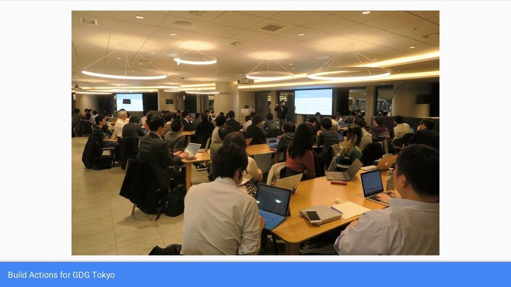 Build Actions for GDG Tokyo