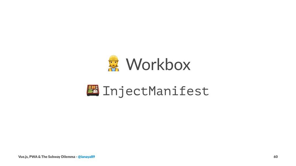 ! Workbox ! InjectManifest Vue.js, PWA & The Su...