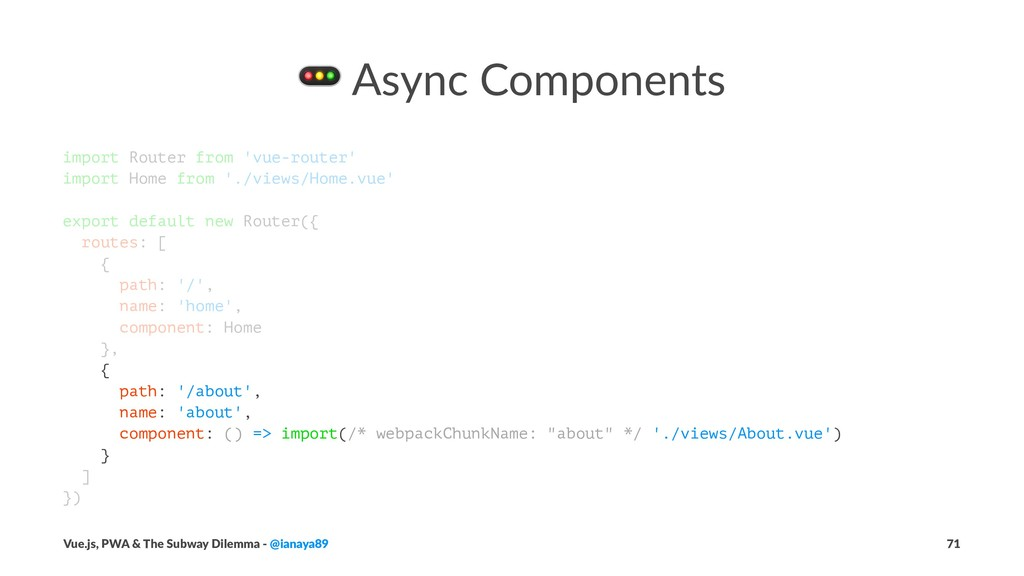 ! Async Components import Router from 'vue-rout...