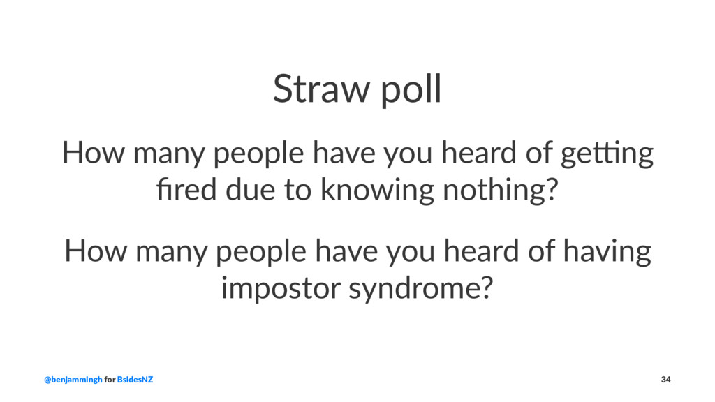Straw poll How many people have you heard of ge...